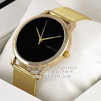 Женские наручные часы Calvin Klein Quartz Gold Black Кельвин Кляйн качественная люкс реплика, фото 1