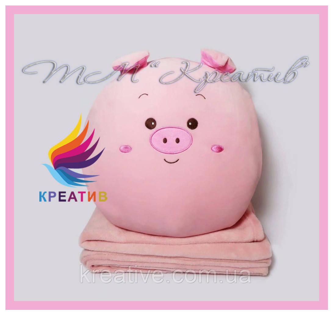 Декоративные подушки свинки под заказ с Вашим логотипом (от 100 шт)