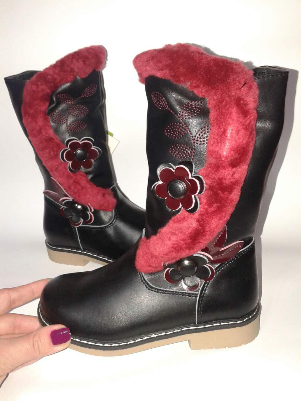 1e0f795186aa4d Зимние детские кожаные сапоги ботинки для девочки, Шалунишка Ортопед 27-31  - Vitamoda в