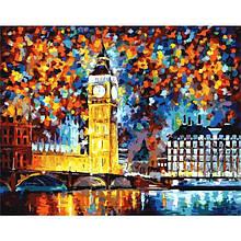 Картина по номерам. Краски вечернего Лондона. Леонид Афремов в коробке