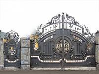 Кованые ворота не только красиво но и ексклюзивно