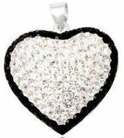 Серебряный кулон подвеска Сердце кристаллы Swarovski TN976