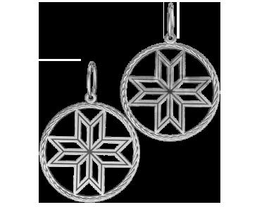 Подвеска - кулон серебряный Алатырь 60082