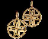 Подвеска - кулон серебряный Алатырь 60082, фото 2