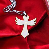 """Символичный аксессуар крест """"Крылья""""8028"""