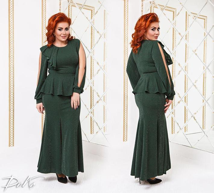 Нарядное женское платье с баской от 50р. , фото 1