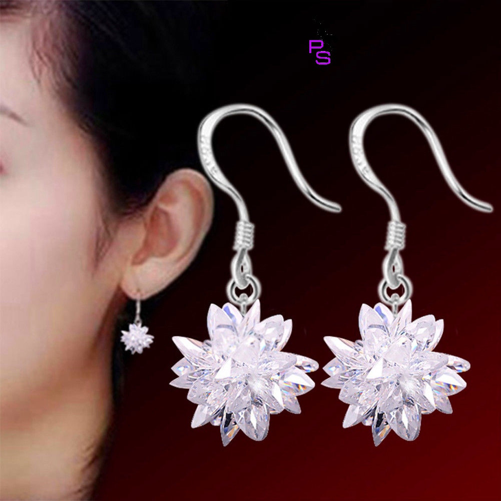 Прелестные сережки в виде снежинок кристалов пусеты в ушко ухо сережки металл earrings качество