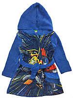 Теплый халат для мальчика с капюшоном
