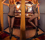 """Интимный обворожительный кружевной боди комбез комбидресс Bodystocking Бодистокинг """"Вероника""""1141, фото 2"""