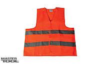 Жилет со светоотражающей лентой оранжевый XXХL 83-0003 Master Tools