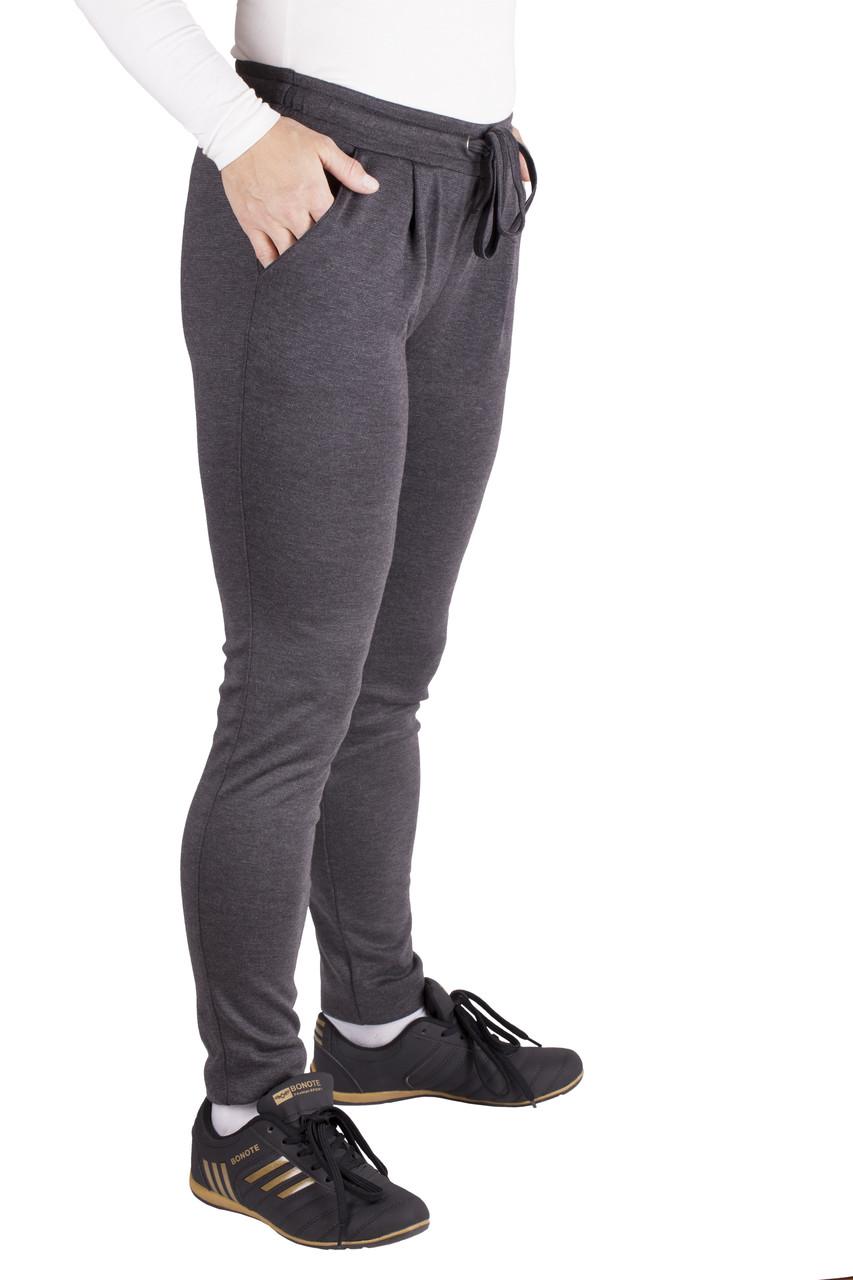 73169110d1f7 Демисезонные брюки серые зауженные штаны женские трикотажные
