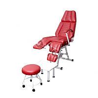 Педикюрно-косметологическое кресло КП-3 с регулируемыми пуфиками для ног, с подставкой для ванночки