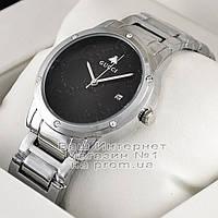 Женские наручные часы Gucci Quartz Silver Black Dimond Гуччи качественная люкс реплика, фото 1