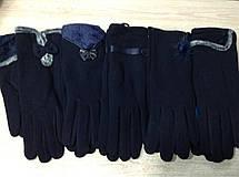 Теплі яскраві стрейчеві жіночі рукавички на хутрі, фото 3