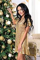 Платье трикотажное спайетками  (44-50)
