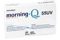 Линзы контактные на 1 месяц Morning Q 55 UV Interojo упаковка (6 шт)