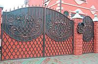 Ворота распашные глухие