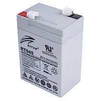 Аккумуляторная батарея AGM RITAR RT645, Gray Case, 6V 4.5Ah  (70х47х107 мм) Q20
