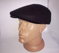 Классическая мужская кепка \фуражка черная из кашемира на флисе с ушами