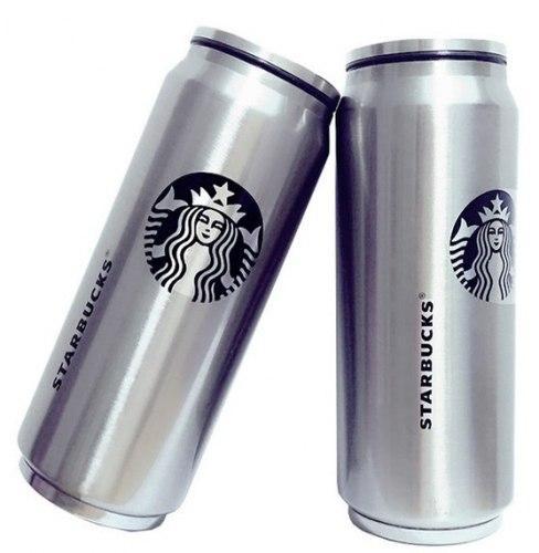 Термокружка 0,33 л Starbucks металлическая банка