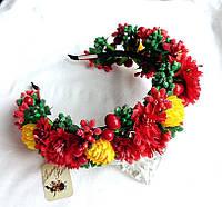 """Обруч віночок з квітами та ягодами/// Обруч для волос с цветами и ягодами ручной работы """"Плоды осени"""""""