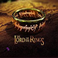 Потрясное золотое кольцо всевластия из Властелина Колец для фанатов