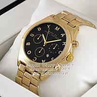 Мужские наручные часы Marc Jacobs Quartz Gold Black унисекс Марк Джейкобс качественная люкс реплика