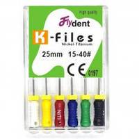 Профайлы FlyDent K-Files NITI 25 mm 15-40# 6шт