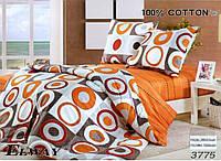 Сатиновое постельное белье евро ELWAY 3775