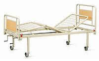 Кровать медицинская 3-х секционная на колесах
