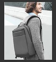 """Стильный деловой рюкзак для ноутбука до 15,6"""" и планшета до 9,7"""" Arctic Hunter B00218, влагозащищённый, 23л Серый"""