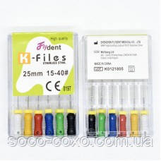 K-Files FlyDent 25 mm 15-40# 6шт