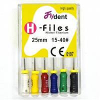 Профайлы FlyDent H-Files SS 25 mm 15-40# 6шт