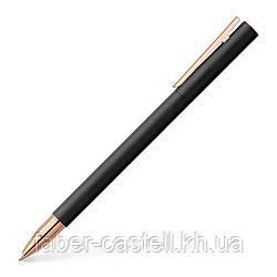Ручка роллер Faber-Castell NEO Slim Metal Black Rosegold черный металл с розовым золотом, 343114