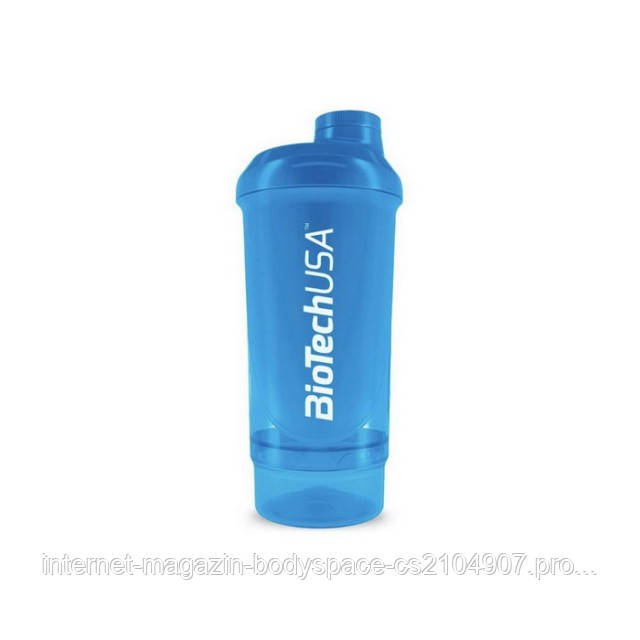Biotech USA, Шейкер Wave+ Compact Shaker 500ml(+150ml) Schocking Blue