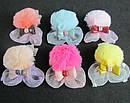 Детские заколки уточки с мехом 10 шт/уп., фото 3