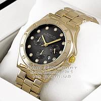 Мужские наручные часы Marc Jacobs Quartz Gold Black Dimond унисекс Марк Джейкобс Якобс премиум реплика, фото 1