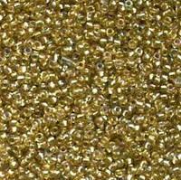 Бисер №10 светлое золото радужный