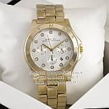 Жіночі наручні годинники Marc Jacobs Quartz Gold White Dimond унісекс Марк Джейкобс капчественные преміум репліка, фото 2