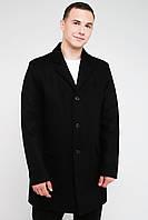 Длинное мужское зимнее черное пальто из кашемира 4025, фото 1