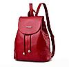 Рюкзак женский кожзам в стиле Miamin на шнурке Красный
