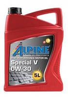 Масло моторное ALPINE 0W-30 Special V ACEA A5-/B5-12  API SL Volvo VCC 95200377 для Вольво 5L