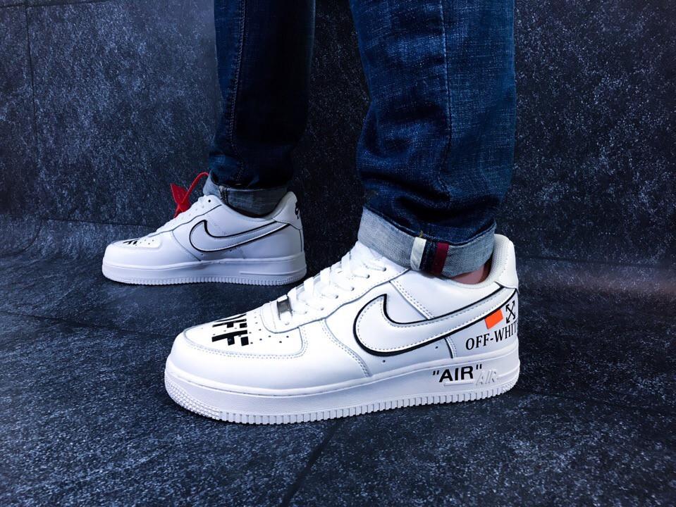 """Кроссовки Nike Air Force 1 Low Off-White """"White/Black"""" (Белые/Черные)"""