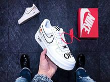 """Кроссовки Nike Air Force 1 Low Off-White """"White/Black"""" (Белые/Черные), фото 2"""