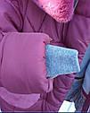 """Детское зимнее пальто с мутоном """"Сердечки"""" Размеры 32- 38, фото 2"""