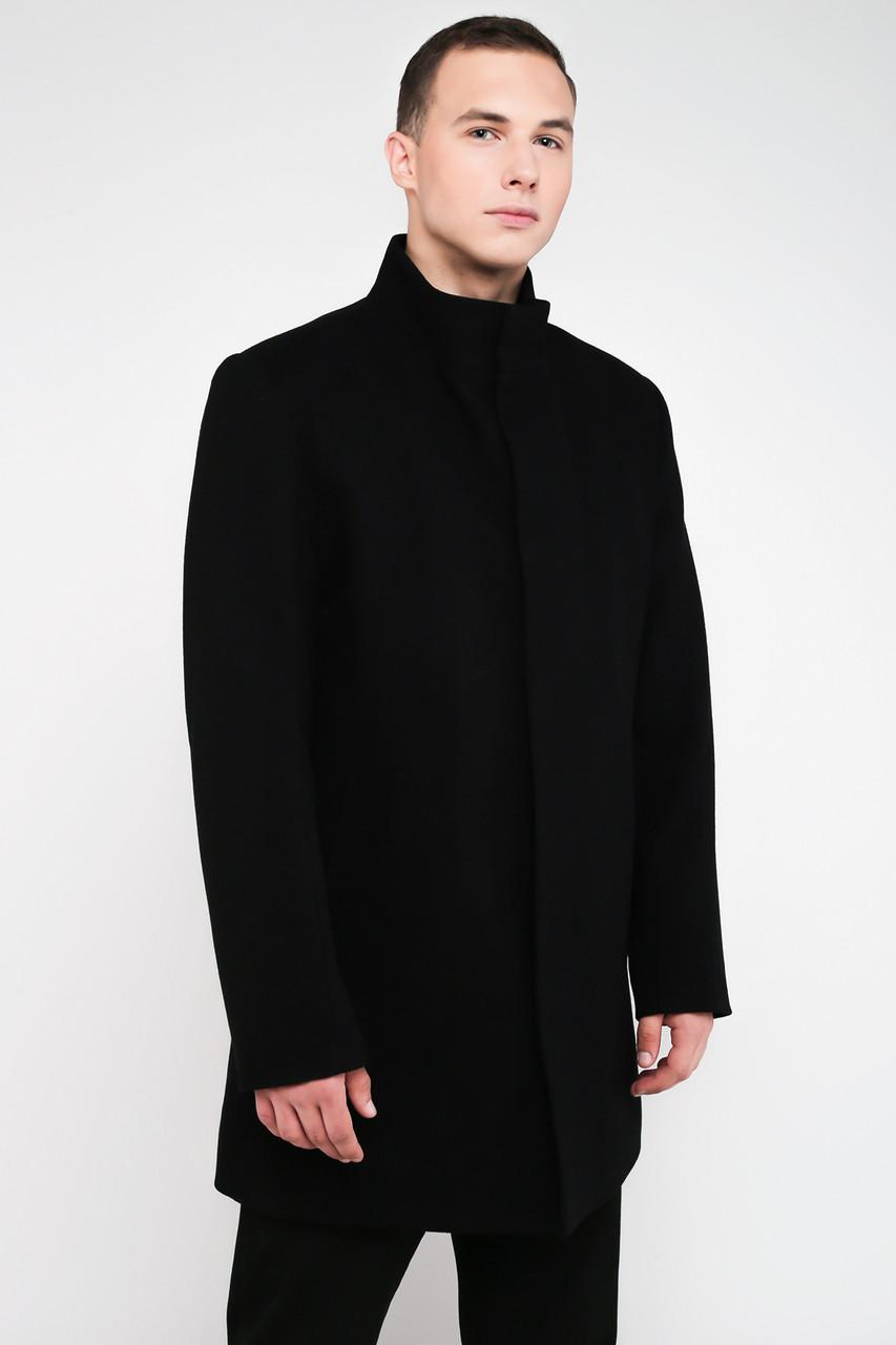 Мужское Зимнее Черное Пальто Из Кашемира с Манишкой 4026 48 — в Категории
