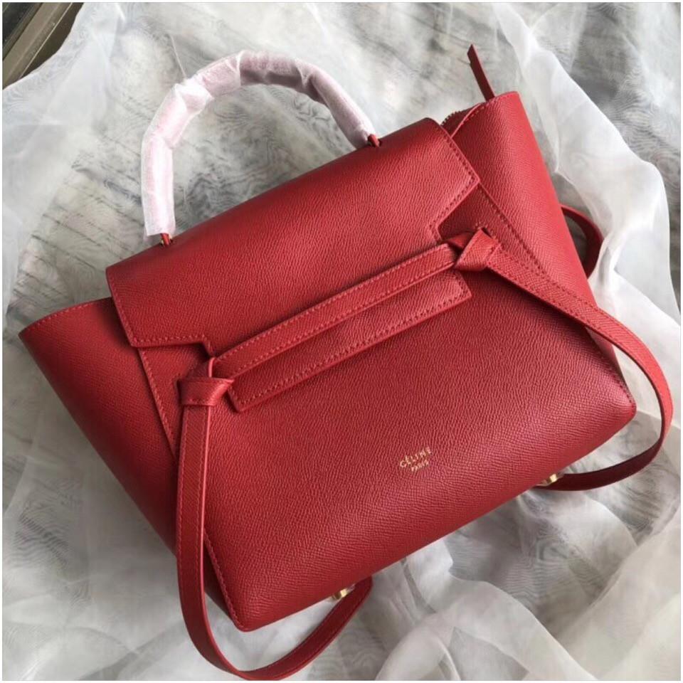 e77466b8e6f9 Сумка женская Селин Belt, натуральная кожа сафьяно, 25, 30 см, цвет красный