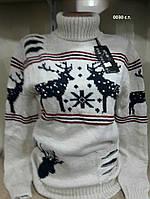 Вязаный женский свитер с оленями 0030 с.т., фото 1