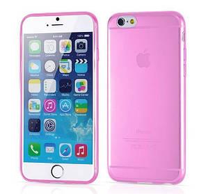 """Чехол """"Ультратонкий"""" для iPhone 6, розовый (силиконовый)"""