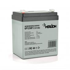 Аккумуляторная батарея MERLION AGM GP1250F1, 12V 5Ah ( 90 х 70 х 100 (105) ) Q10